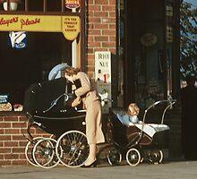 Pram in street Dunfermline 195709080001 by Fred Mitchell
