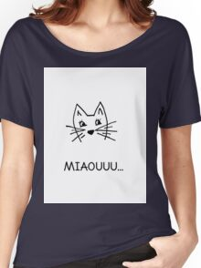 Cute hand drawn cat Women's Relaxed Fit T-Shirt