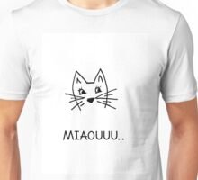 Cute hand drawn cat Unisex T-Shirt