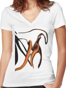 Zoind On Women's Fitted V-Neck T-Shirt