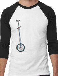 Very Tall Unicycle Men's Baseball ¾ T-Shirt