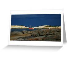 red boat. bicheno, tasmania Greeting Card