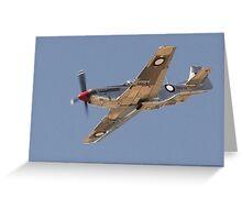 CAC Mustang Greeting Card