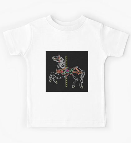 Night Time Carousel Horse Kids Tee