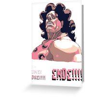 Hugo - EIN ZWEI DREI!!! ENDE! Greeting Card
