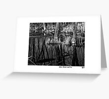 Open Water and Ice BW Greeting Card