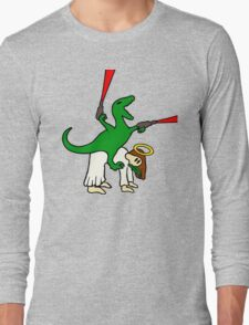 Dinosaur Riding Jesus Long Sleeve T-Shirt