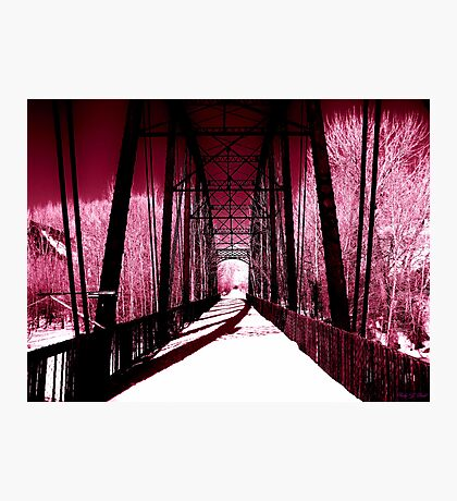 Pink Winter Walk Photographic Print