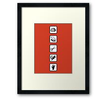 Rock-Paper-Scissors-Lizard-Spock Framed Print