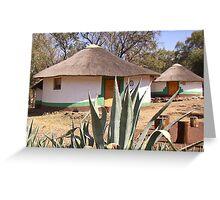 round hut in Botswana Greeting Card