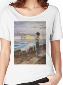 Girl At The Ocean Women's Relaxed Fit T-Shirt