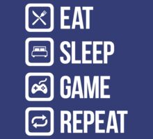 Eat Sleep Game Repeat by slr81