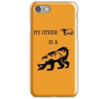 My Other Badger Is A Honey Badger iPhone Case/Skin
