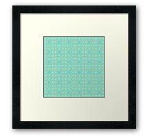 Retro pattern in blue Framed Print