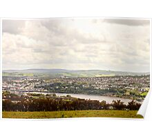 View from a hill Poster