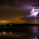 Lightning Storm Over Anglesea  by Ben Cordia