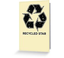 Recycled Star - Inverted Greeting Card