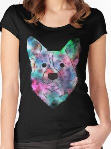 Space Dog Women's Fitted Scoop T-Shirt