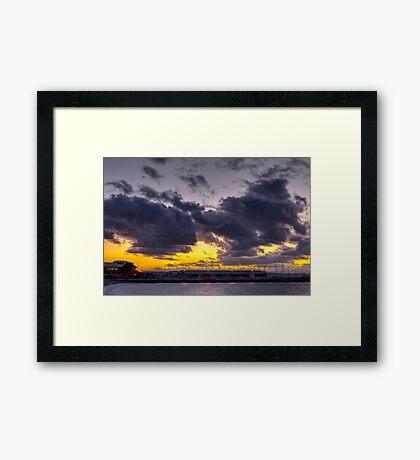 Sunset Over Edmonds Marina Framed Print