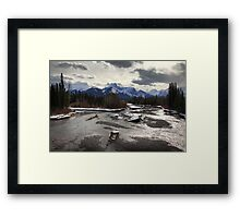 Winter in the Rockies Framed Print