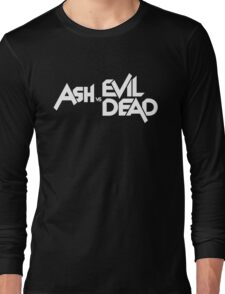 ASH VS EVIL DEAD TITLE White  Long Sleeve T-Shirt