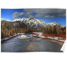 Winter in the Rockies (HDR) Poster