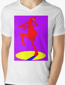 Spare Leg Mens V-Neck T-Shirt