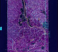 USGS Topo Map Washington State WA Newport 242812 1942 125000 Inverted by wetdryvac