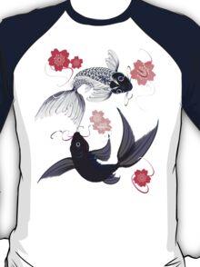 Yin and Yang Koi and Cherry Blossoms T-Shirt