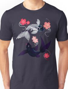 Yin and Yang Koi and Cherry Blossoms Unisex T-Shirt