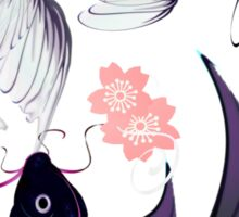 Yin and Yang Koi and Cherry Blossoms Sticker