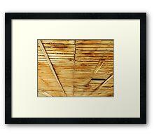 Worn Slats Framed Print