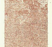 USGS Topo Map Washington State WA Pomeroy 243190 1937 96000 by wetdryvac