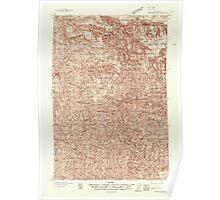 USGS Topo Map Washington State WA Pomeroy 243190 1937 96000 Poster