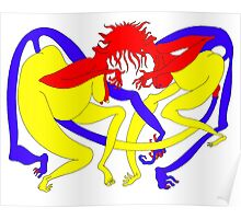 Red Heads Rutting Poster