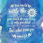 Rattle The Stars Book Quote Design by evieseo