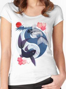 Yin and Yang Koi Women's Fitted Scoop T-Shirt