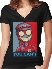 You Can't Women's Fitted V-Neck T-Shirt