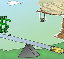 binary options cartoon Buck Up, Au Down, Europe-A-Dope by Binary-Options