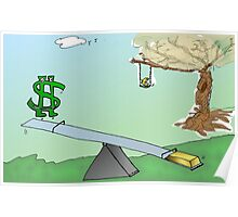 binary options cartoon Buck Up, Au Down, Europe-A-Dope Poster