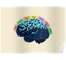 My Brain Has Too Many Tabs Open Poster
