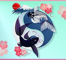 Yin and Yang Koi by Lotacats