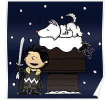 Snow Peanuts Poster