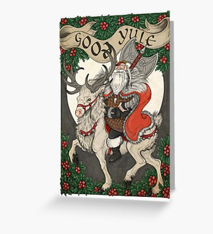Nordic Santa - Red Greeting Card