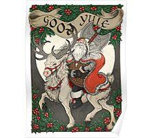 Nordic Santa - Red Poster