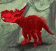Pachyrhinosaurus by cubelight