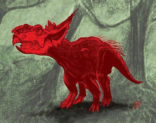 Pachyrhinosaurus by cubelight