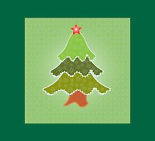 New year, christmas tree illustration with snowflakes Unisex T-Shirt
