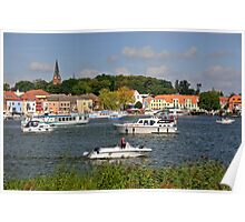 Boating at Malchow, Mecklenburg, Germany Poster
