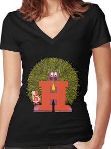 Mister H Women's Fitted V-Neck T-Shirt